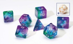 Sirius Dice - Blue Aurora Semi-Transparent Resin (7 set)