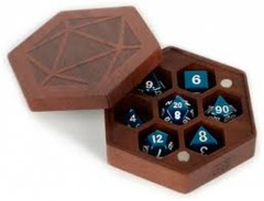 Wood Hexagon Dice Case - Purple Heart