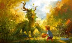 Playmat- Dragon, Ball and Boy