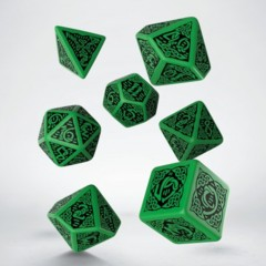 Green and Black Celtic 7 Dice Set