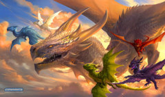 Playmat- Baby Dragons in Flight