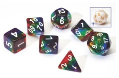Sirius Dice - Rainbow Translucent Resin (7 set)