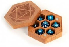 Wood Hexagon Dice Case - Cherry Wood