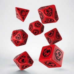 Red and Black Dragon 7 Dice Set