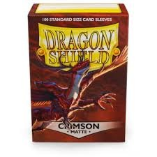 Dragon Shield Sleeves - Matte Crimson (100ct)