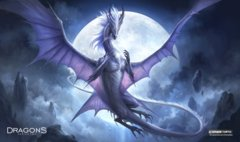 Playmat- White Dragon of the Night
