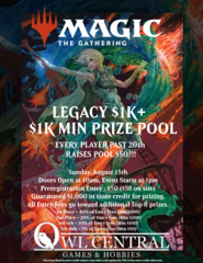 August 15th Legacy $1K+
