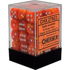 Chessex 36d6 Solar w/white 36d6