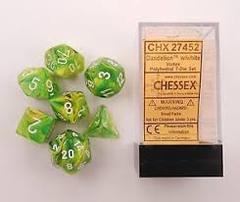 Chessex Dandelion w/white Vortex 7pc