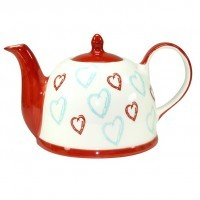 Fancy Hearts Teapot