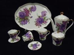Children's Tea Set: Purple Flower