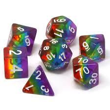 Die Hard Dice Prismatic Rainbow -RPG Dice Set
