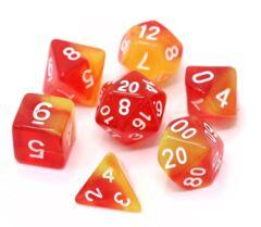 Die Hard 7pc polyhedral: Sunburst