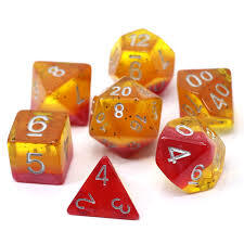 Die hard Dice Passion Fruit -RPG Dice Set