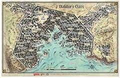 D&D game mat baldur's gate map