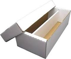 Card Storage Box (2 Columns w/Lid) - 1600 Card