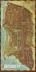 Waterdeep Vinyl Game Mat - 20 X 40 City Map