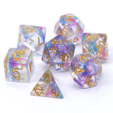 Die Hard Dice Blue/Purple Wisp -RPG Dice Set