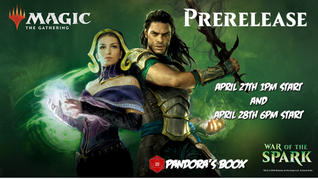 War of the Spark Prerelease (Saturday)