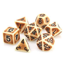 Die Hard Dice Bone Golem -RPG Dice Set