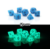 Die Hard 7pc, Glow in the Dark Blue