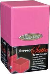 Satin tower deck box - bright pink