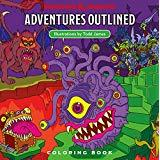 Adventure's Outlined: WotC Coloring Book Dungeons and Dragons