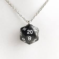 D20 necklace (metal)
