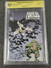 Teenage mutant ninja turtle #9 Signed and Remarque. Scarce Book
