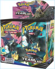 Sun & Moon Team Up Booster Display