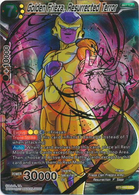 Golden Frieza Resurrected Terror BT1-086 SR Dragon Ball Super Card Game TCG