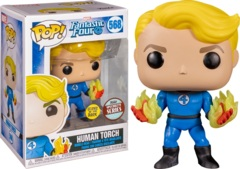 POP! Marvel 568 - Fantastic Four - Human Torch Specialty Series