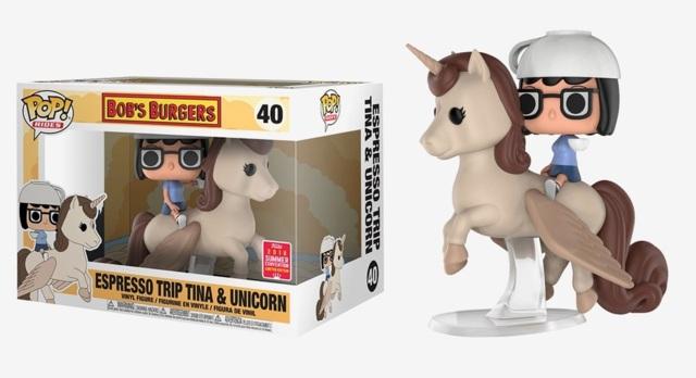 POP! Rides (Animation) 40 - Bobs Burgers - Espresso Trip Tina & Unicorn (2018 Summer Convention)