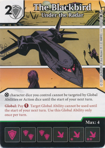 The Blackbird - Under the Radar (Foil) (Die and Card Combo)