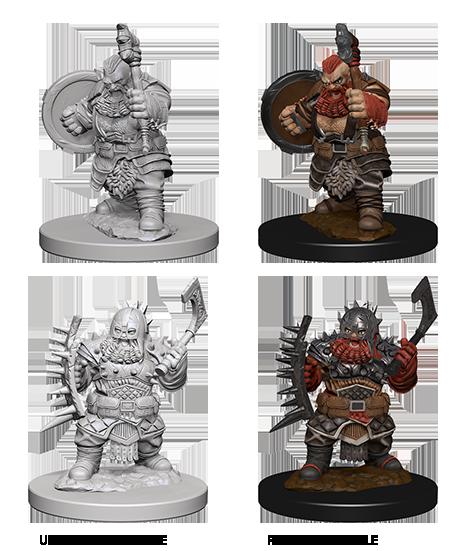 Pathfinder Battles Unpainted Minis - Dwarf Male Barbarian