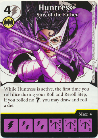 Huntress - Sins of the Father (Foil) (Die & Card Combo)