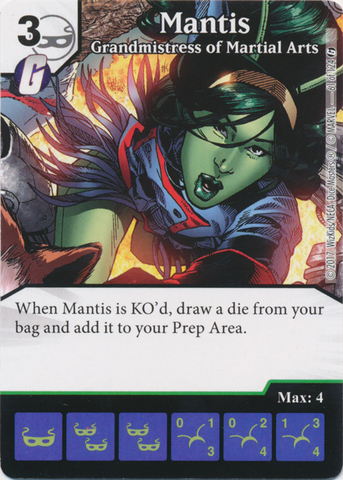 Mantis - Grandmistress of Martial Arts (Foil) (Die and Card Combo)