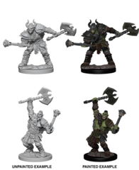 Pathfinder Battles Unpainted Minis - Half-Orc Male Barbarian