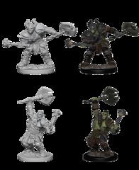 Pathfinder Battles Unpainted Minis - Half-Orc Male Barbarian