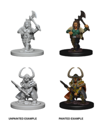 Nolzur's Marvelous Unpainted Minis - Dwarf Female Barbarian