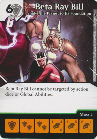 Beta Ray Bill - Shake the Planet to Its Foundation (Foil) (Die and Card Combo)
