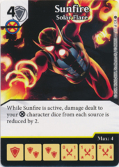 Sunfire - Solar Flare (Foil) (Die and Card Combo)