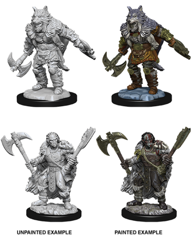 Nolzurs Marvelous Unpainted Minis - Male Half-Orc Barbarian