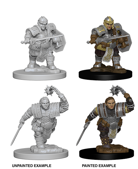 Nolzurs Marvelous Unpainted Minis - Dwarf Female Fighter