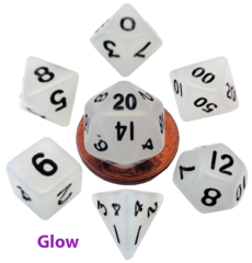 Mini Polyhedral Set Glow Clear