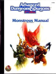 Advanced Dungeons and Dragons Monstrous Manual