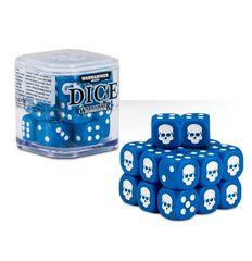 Dice - D6 Blue/White