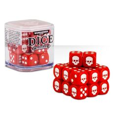 Dice - D6 Red/White