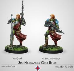 Infinity: Ariadna 3rd Highlander Grey Rifles (HMG) (CVB 280193-0695)