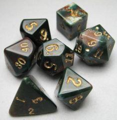 Dwarven Stones Bloodstone 12mm 7 Die Set